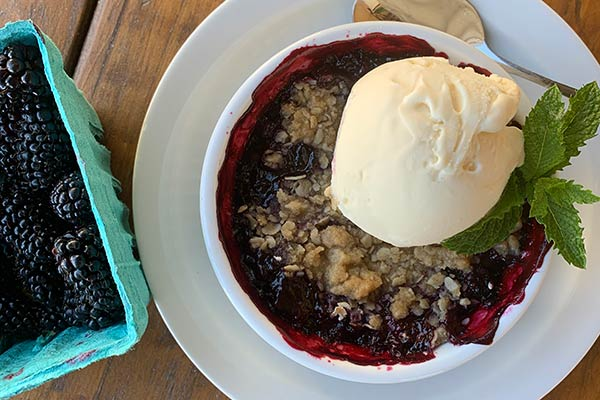 Marionberry Crumble at Ankeny Vineyard